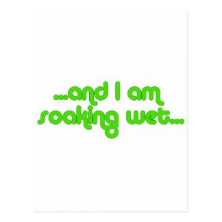 Soaking Wet Green Postcard