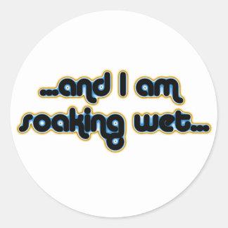 Soaking Wet Iceglow Classic Round Sticker
