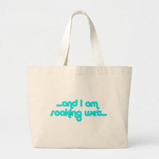 Soaking Wet Light Blue Large Tote Bag
