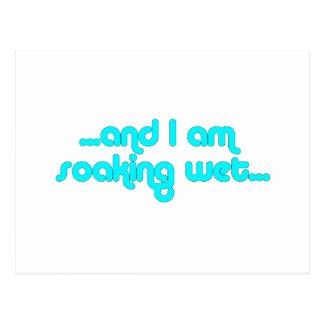 Soaking Wet Light Blue Postcard