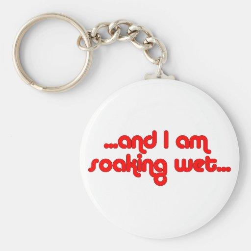 Soaking Wet Red Basic Round Button Keychain