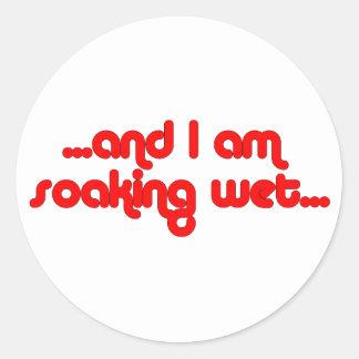 Soaking Wet Red Classic Round Sticker