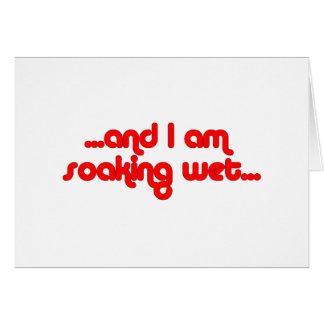 Soaking Wet Red Greeting Card