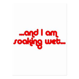 Soaking Wet Red Postcard