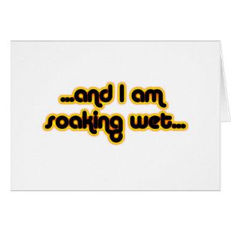 Soaking Wet Sunglow Greeting Card