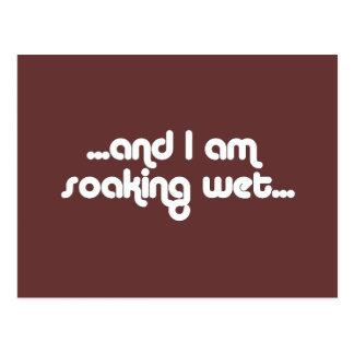Soaking Wet White Postcard