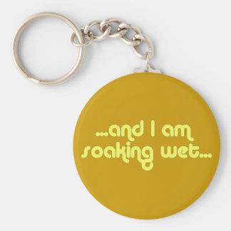 Soaking Wet Yellow Basic Round Button Keychain