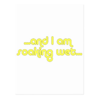 Soaking Wet Yellow Postcard