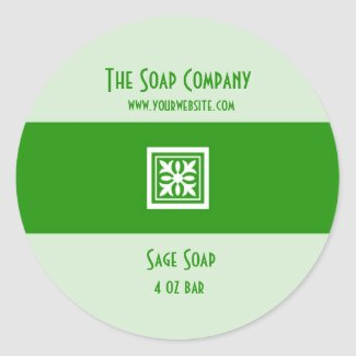 Soap and Bath Products Label - Green