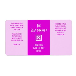 Soap and Bath Products Label - Pink