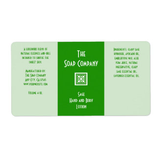 Soap and Bath Products Label - Sage Green