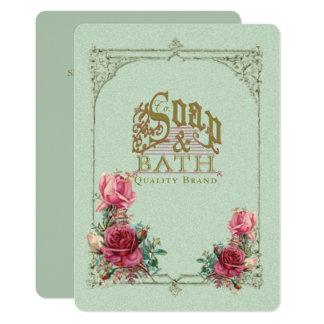 SOAP & BATH ~ Invitation / Event Card