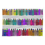 Soap Bottle Rainbow - for bathrooms, salons etc Hand Towel