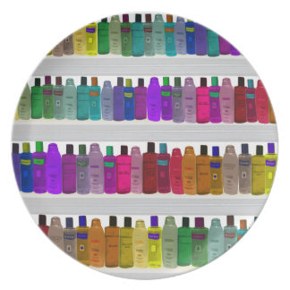 Soap Bottle Rainbow - for bathrooms, salons etc Melamine Plate