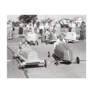 Soap Box Derby, 1940 Canvas Print
