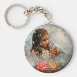 Soap Bubble Girl  Keychain