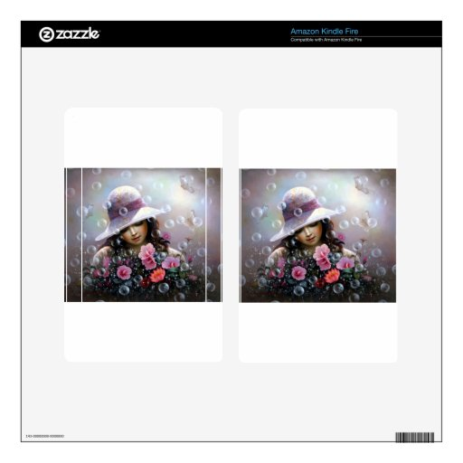 soap bubble girl - rose Sharon of song Skin For Kindle Fire