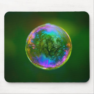 Soap Bubble In The Air Mouse Pad