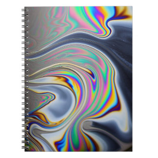 Soap bubble macro photo spiral note books