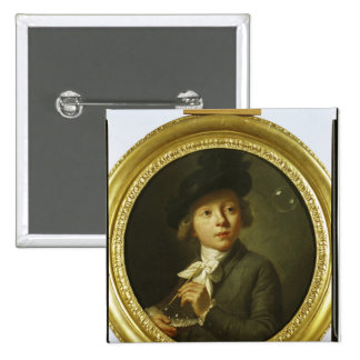 Soap Bubbles, 1784 2 Inch Square Button