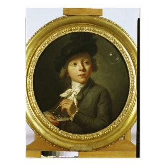 Soap Bubbles, 1784 Postcard