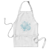 Soap bubbles adult apron