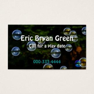 Soap Bubbles Calling Card