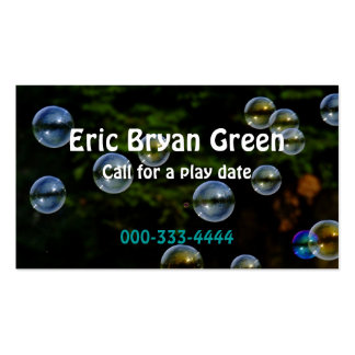 Soap Bubbles Calling Card Double-Sided Standard Business Cards (Pack Of 100)