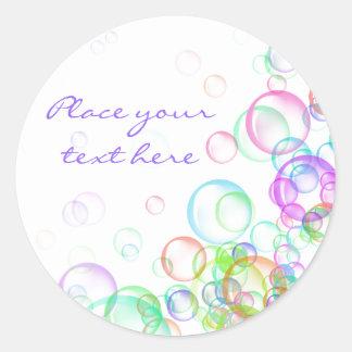 Soap Bubbles Classic Round Sticker