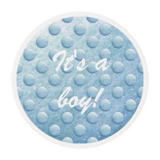 Soap Bubbles Dot 1260C Blue Edible Frosting Rounds