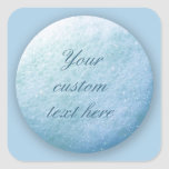 Soap Bubbles Dot 1260C Blue Square Sticker