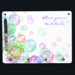 """Soap Bubbles Dry Erase Board With Keychain Holder<br><div class=""""desc"""">Colorful soap bubbles on white background. Perfect for kids events like birthdays and parties. Also useful as fun,  happiness,  or spring concept.</div>"""