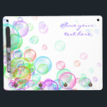 "Soap Bubbles Dry Erase Board With Keychain Holder<br><div class=""desc"">Colorful soap bubbles on white background. Perfect for kids events like birthdays and parties. Also useful as fun,  happiness,  or spring concept.</div>"