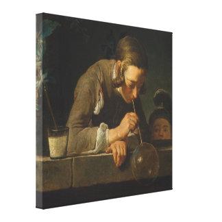 Soap Bubbles - Jean Siméon Chardin Canvas Print