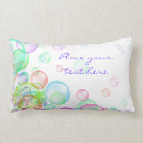 Soap Bubbles Lumbar Pillow