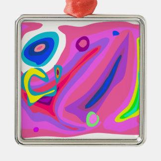 Soap Bubbles Square Metal Christmas Ornament