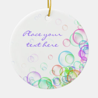 Soap Bubbles Double-Sided Ceramic Round Christmas Ornament