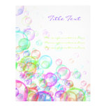Soap Bubbles Personalised Flyer