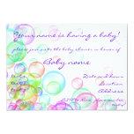 Soap Bubbles Personalized Announcement