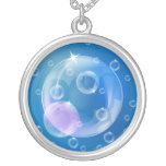 Soap bubbles personalized necklace