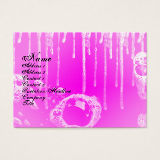 Soap Bubbles Pink Fantasy Business Card