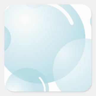 Soap bubbles square sticker