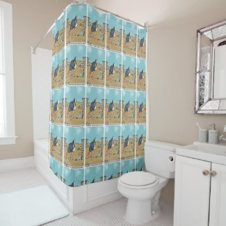Soap Cartoon Shower Curtain