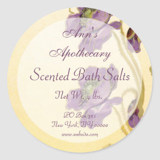 Soap Cosmetics Perfume Bath Products Gift Label - Classic Round Sticker