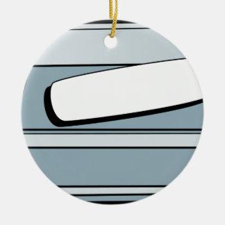 Soap Dish Cartoon Art Double-Sided Ceramic Round Christmas Ornament