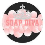Soap Diva Soap Maker Bubbles Classic Round Sticker