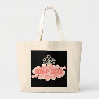 Soap Diva Soap Maker Bubbles Large Tote Bag