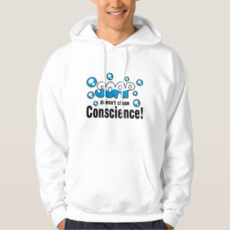 Soap Doesn't Clean Conscience! Men's Hoodie