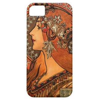 Soap factory of Bagnolet - Alphonse Mucha iPhone 5 Cover
