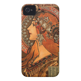 Soap factory of Bagnolet - Alphonse Mucha iPhone 4 Case-Mate Cases